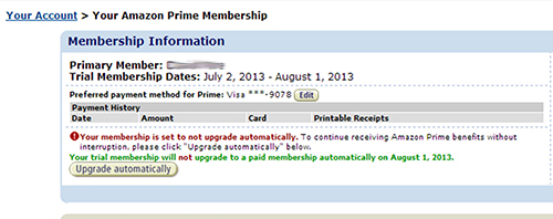 Disable Amazon Prime auto upgrade 03