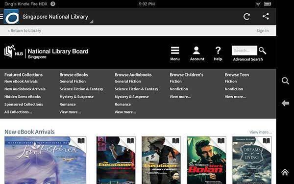 NLB Singapore Kindle ebook