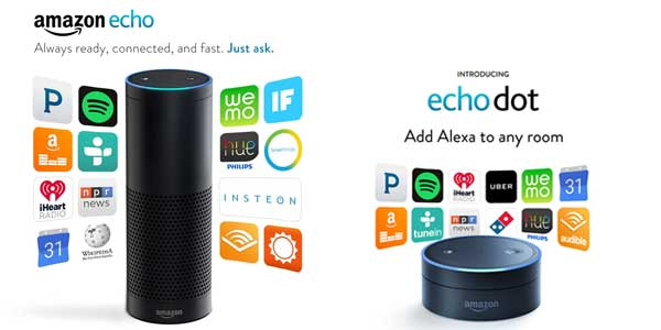 amazon echo dot vs amazon echo